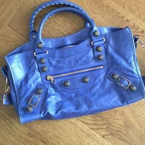 Balenciaga Outremer Blue Rose Gold HW part time
